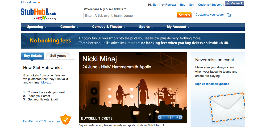 StubHub Review – Unbiased Opinion of Ticket Exchange Website