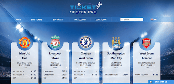 ticketmasterpro screenshot