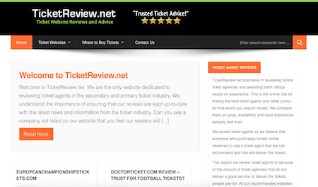 Welcome to TicketReview.net