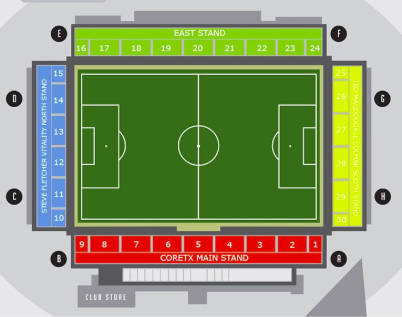 Vitality Stadium Seating Map