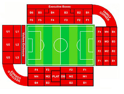 Bramhall Lane Seating Map