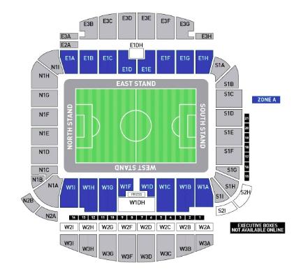 Falmer Stadium Seating Map
