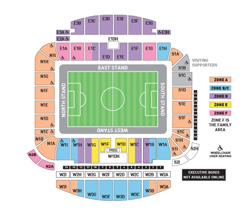 Amex Stadium Seating Map