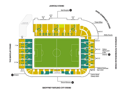 Norwich City Seating Map Carrow Road Stadium Map Safeticketcompare Com
