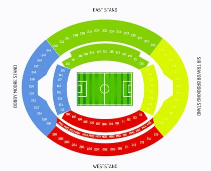 London Stadium Seating Map