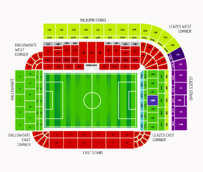 St James Park Seating Map