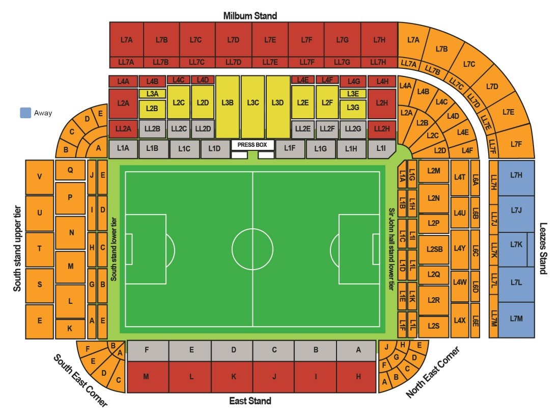 St. James Park Seating Map