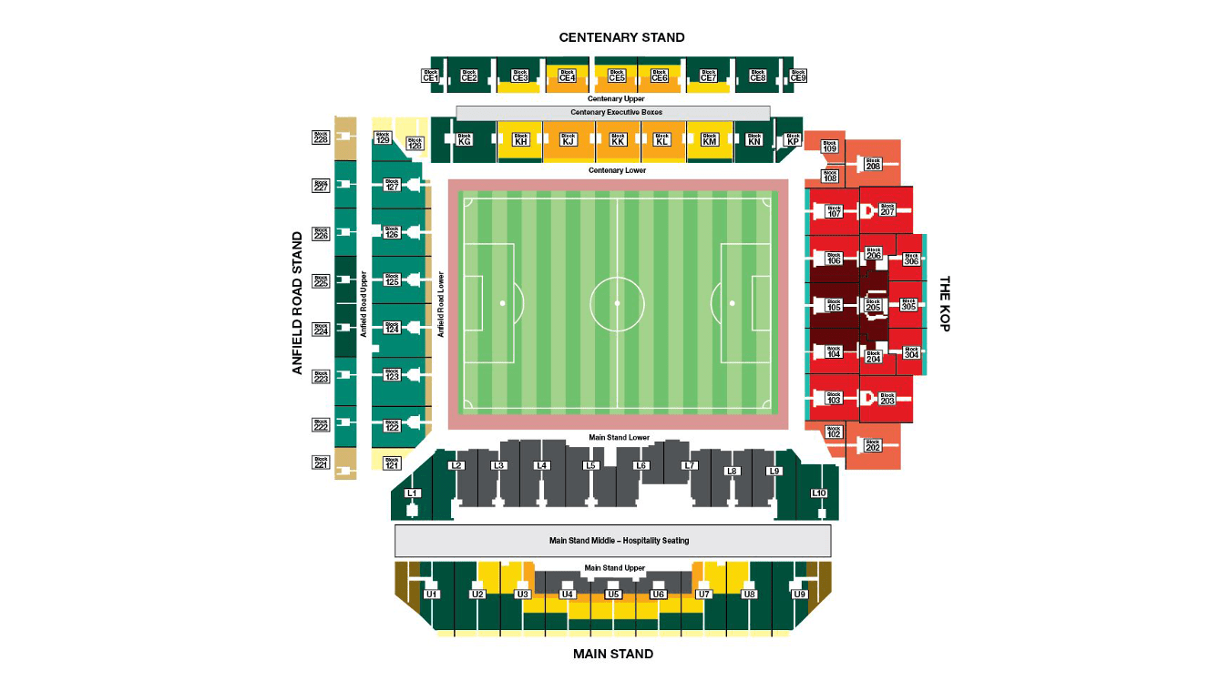 Anfield Seating Map