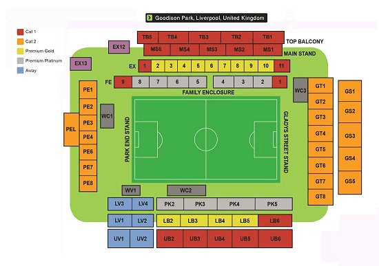 Goodison Park Seating Map